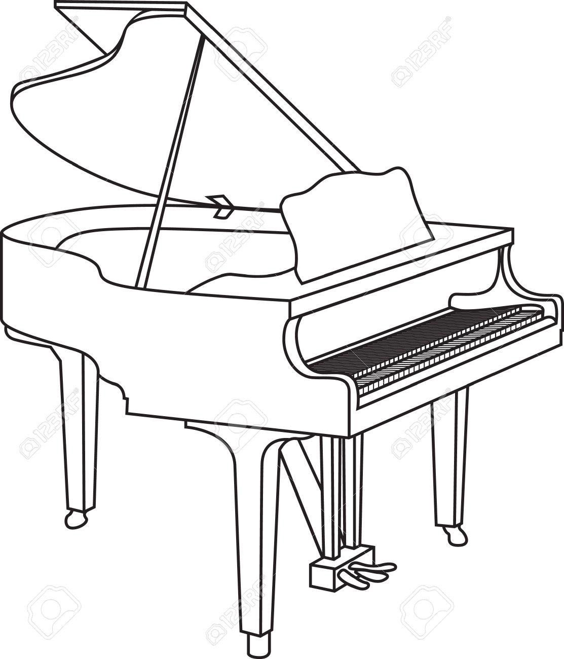 1113x1300 Piano Drawing