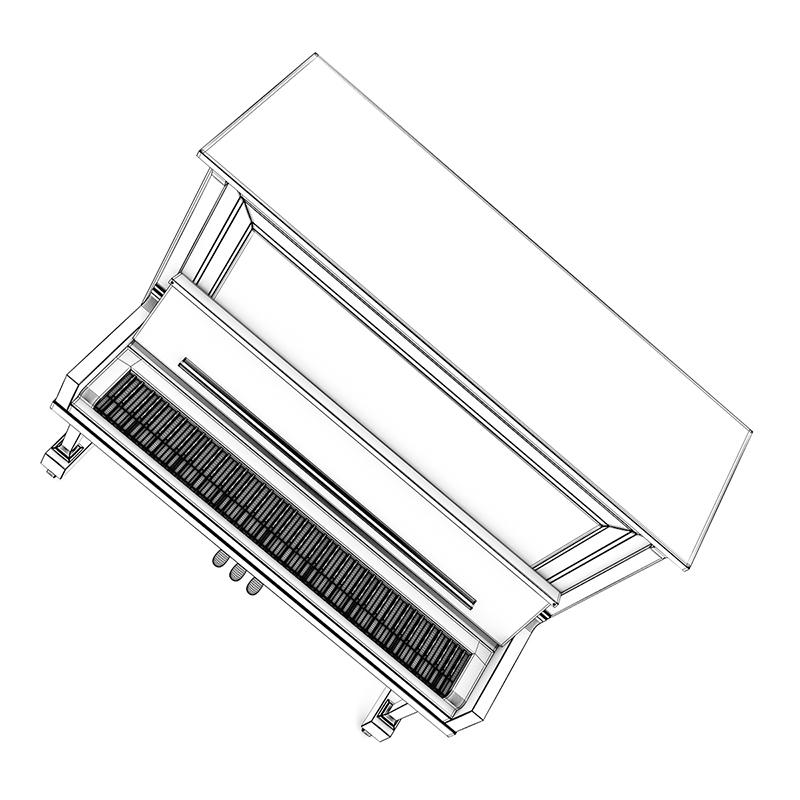 800x800 Upright Piano