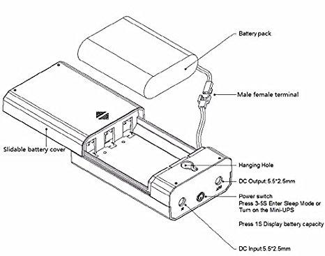 466x367 Mini Ups Dc 12 V 2