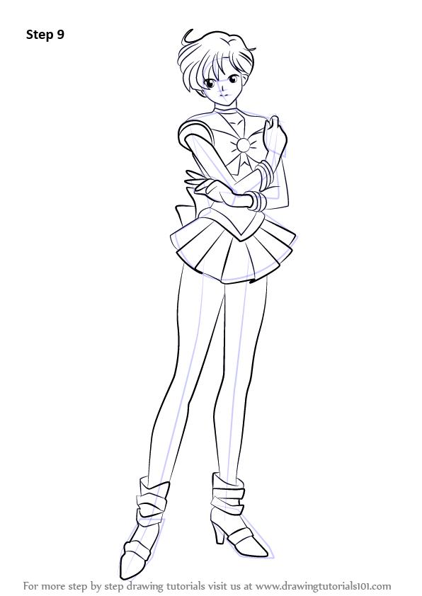 596x842 Learn How To Draw Sailor Uranus From Sailor Moon (Sailor Moon