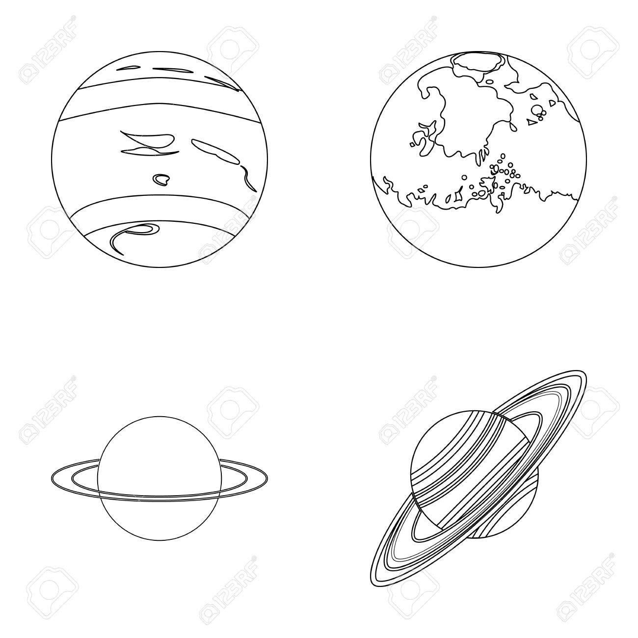 1300x1300 Neptune, Mars, Saturn, Uranus Of The Solar System. Planets Set