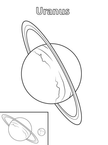 358x480 Uranus Planet Coloring Page Free Printable Coloring Pages