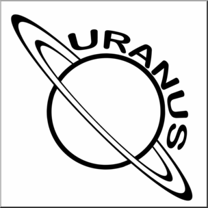 304x304 Clip Art Planets Uranus Bampw I Abcteach