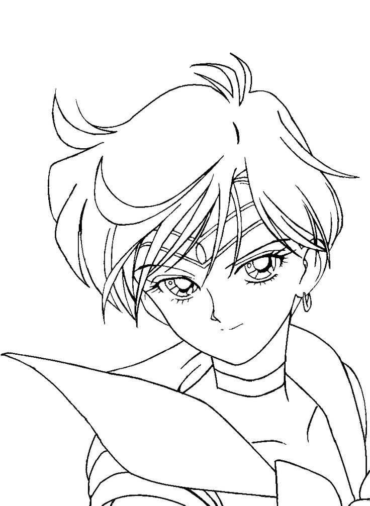 736x1007 Coloring Pages Uranus Coloring Pages Sailor Moon Uranus Coloring