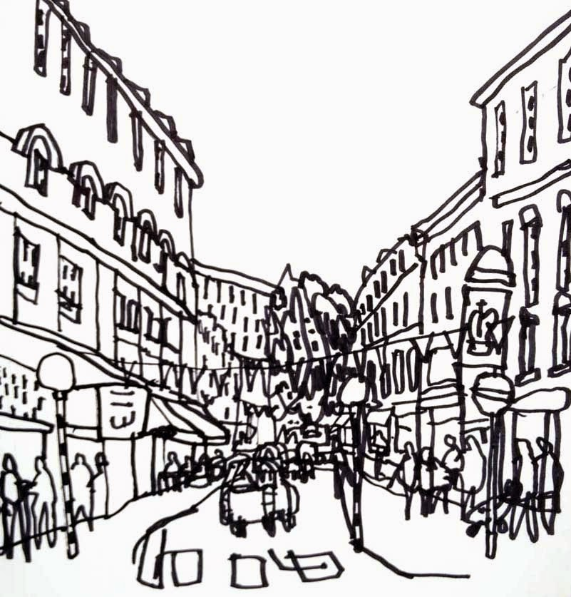 801x837 Urban Sketchers London Drawing Covent Garden