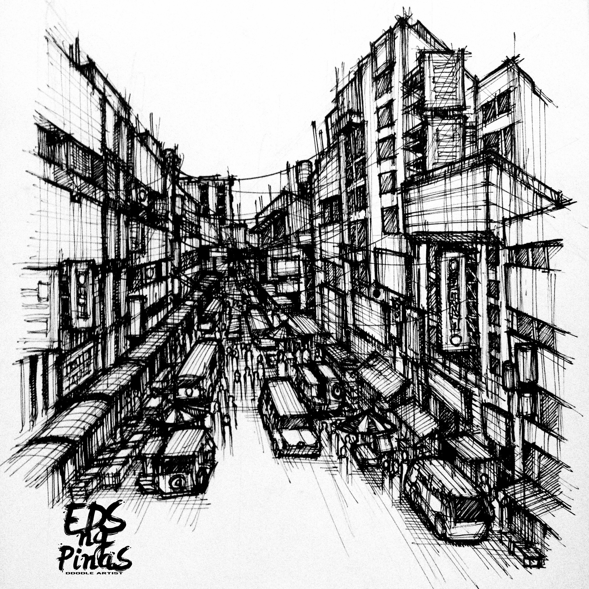 2448x2448 6 Urban Sketches Reveals The Commuting Life In Manila Psst! Ph