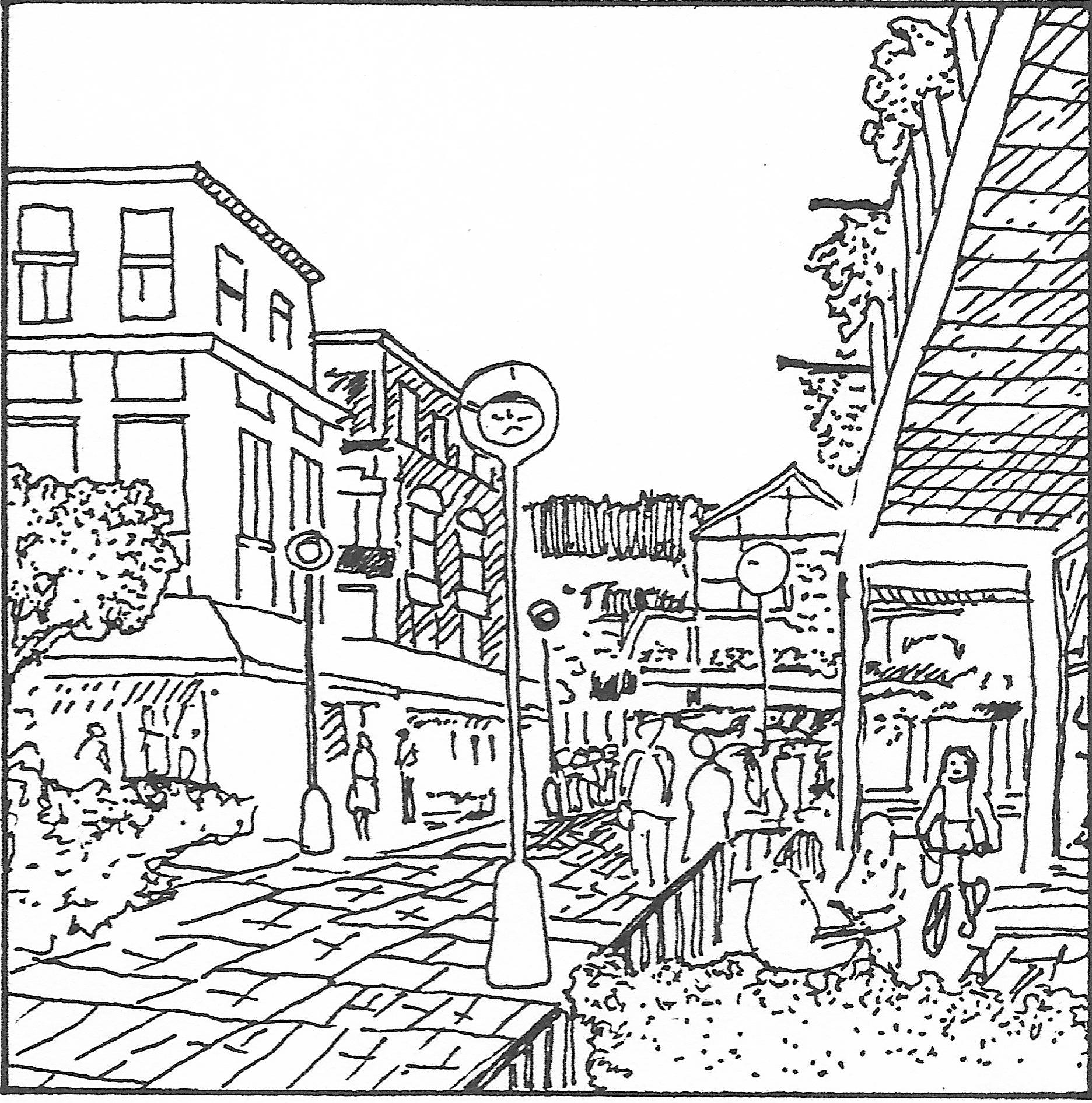 urban landscape drawing at getdrawings com