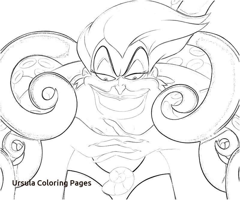 800x667 Ursula The Sea Witch Coloring Pages