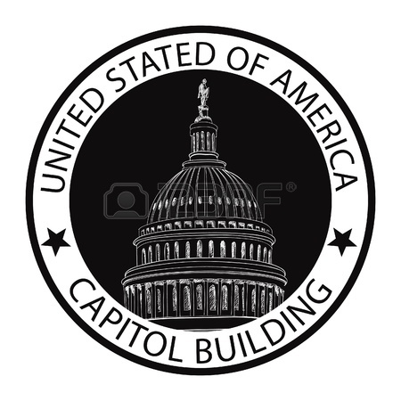 450x450 Capitol Building Hand Drawn Vector Label United States Capitol