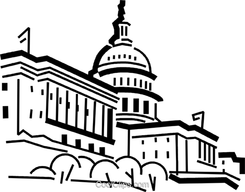 480x376 Capitol Building Royalty Free Vector Clip Art Illustration