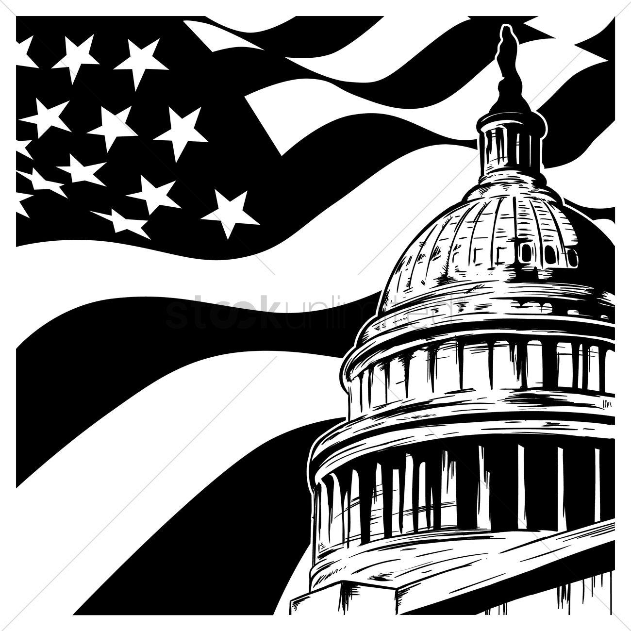 1300x1300 Capitol Building Wallpaper Vector Image