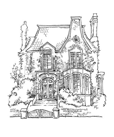 375x450 20,746 House Line Drawing Stock Illustrations, Cliparts
