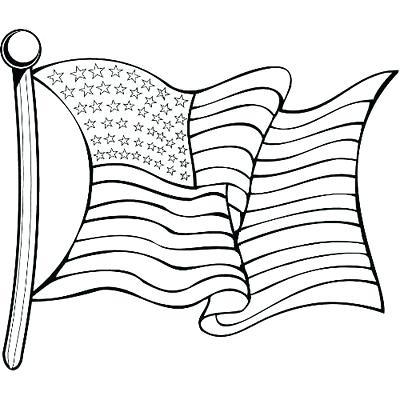 400x400 American Flag Outline