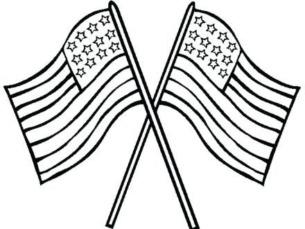 440x330 Excellent American Flag Coloring Page Print Pages United States