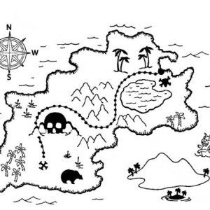 300x300 Map Of The World Coloring Page