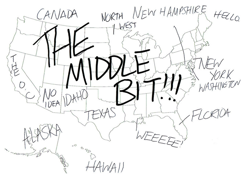 800x615 People In London Tried To Label The 50 Us States On A Map. These