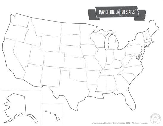 547x422 Printable Map Of The Usa