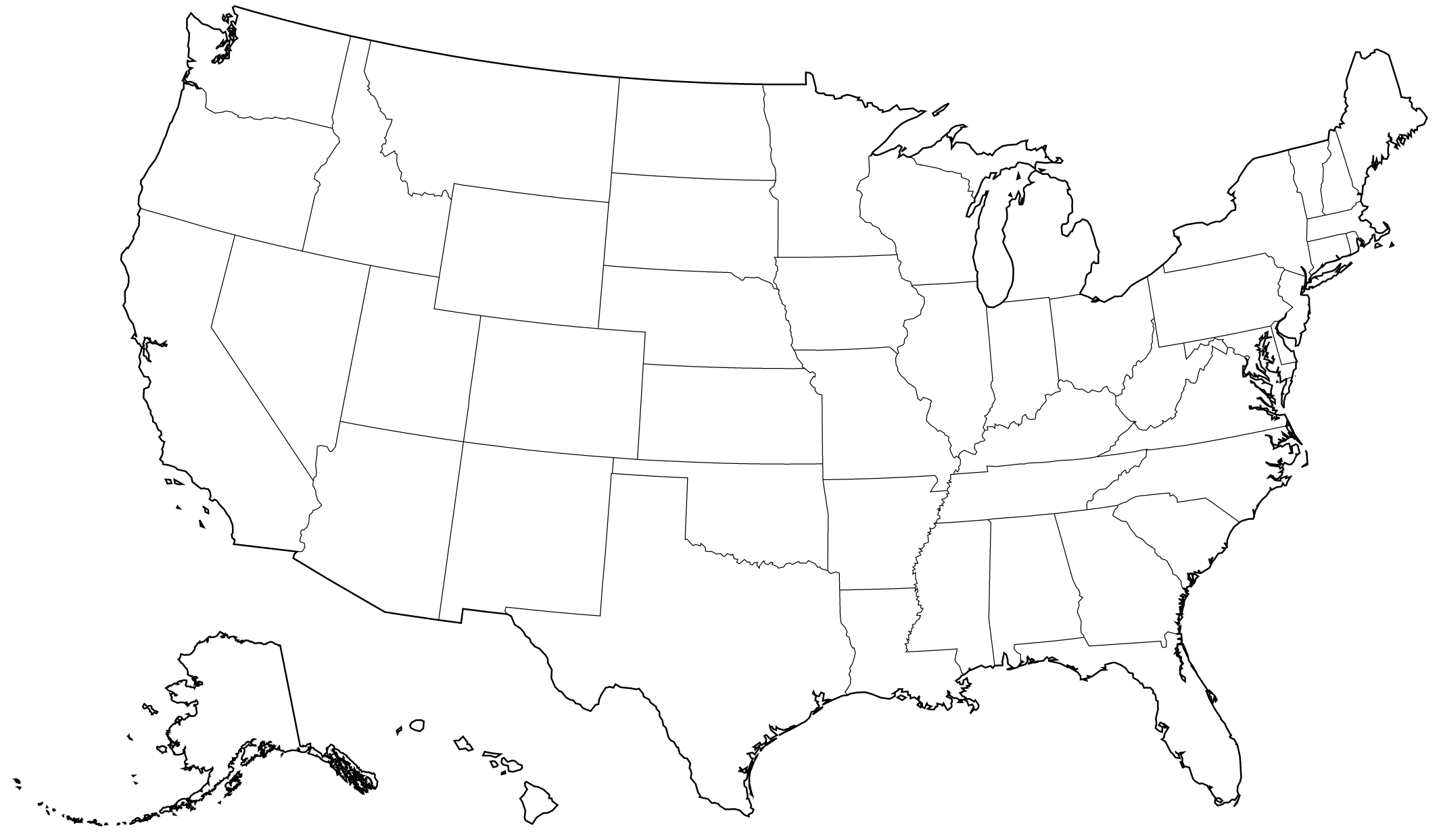 2131x1244 Sketch Drawing Us Map Online Usa Full