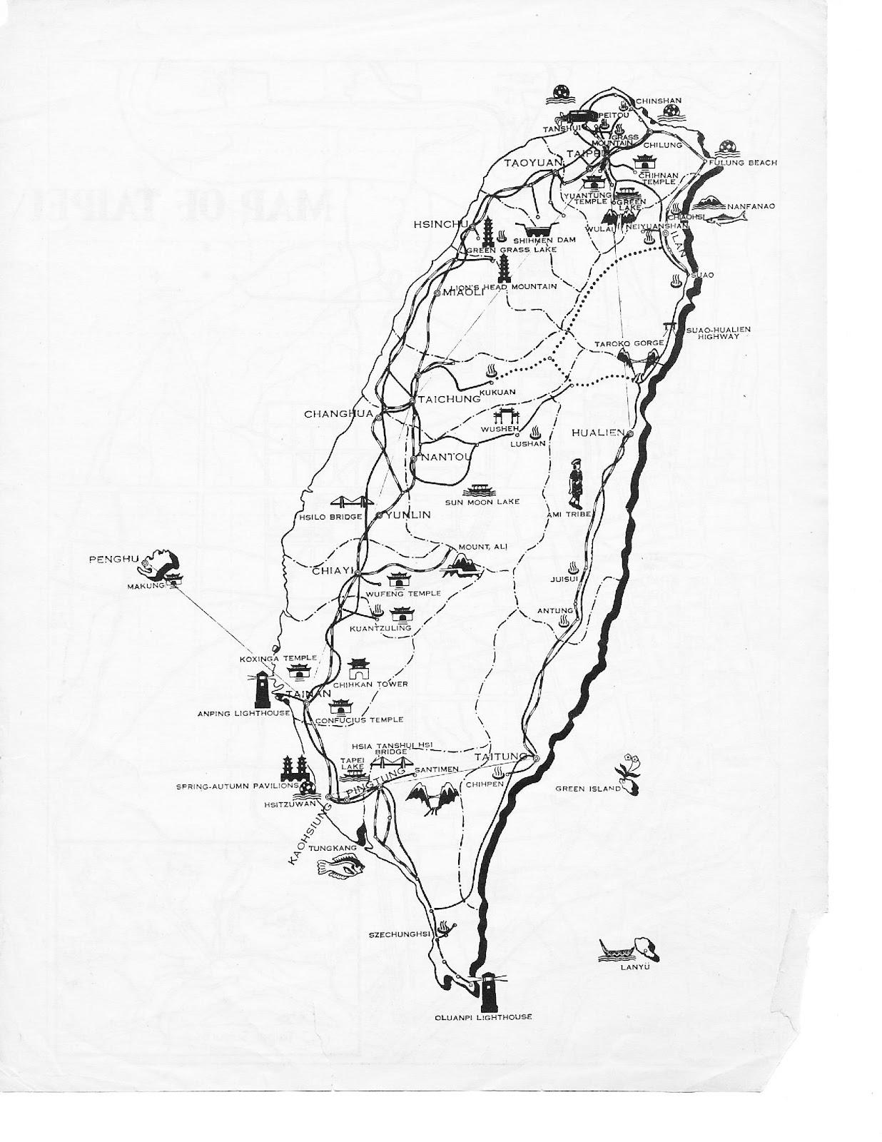 1236x1600 Taiwan Map Drawing
