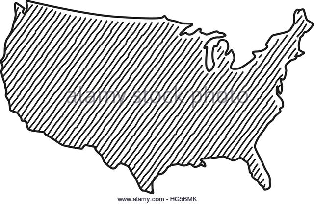 640x417 Hand Drawn Map America Drawing Stock Photos Amp Hand Drawn Map