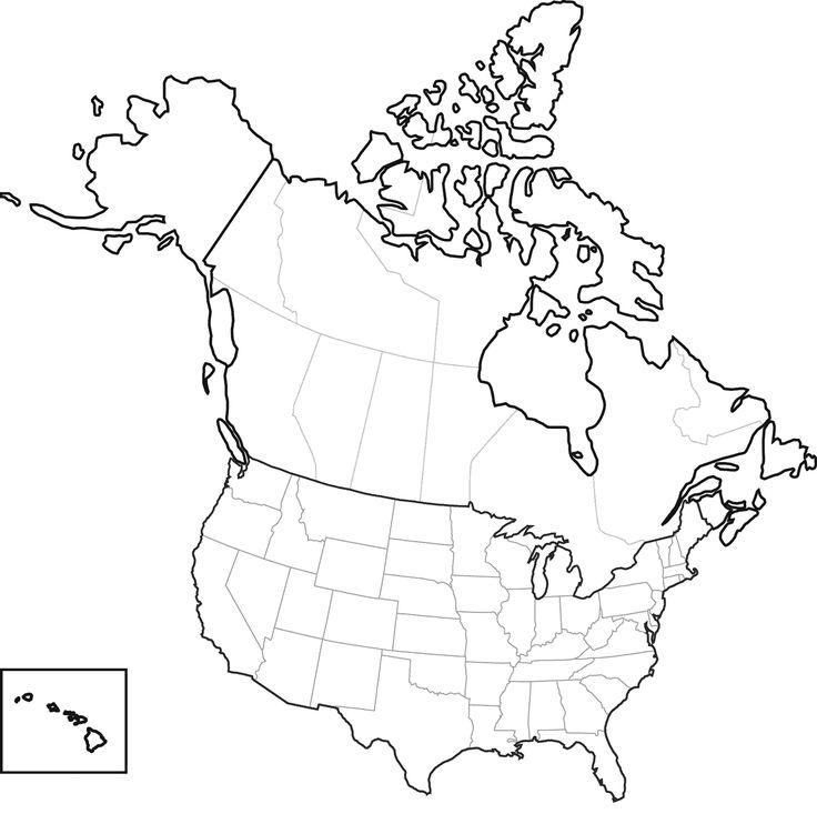 Us Map Line Drawing