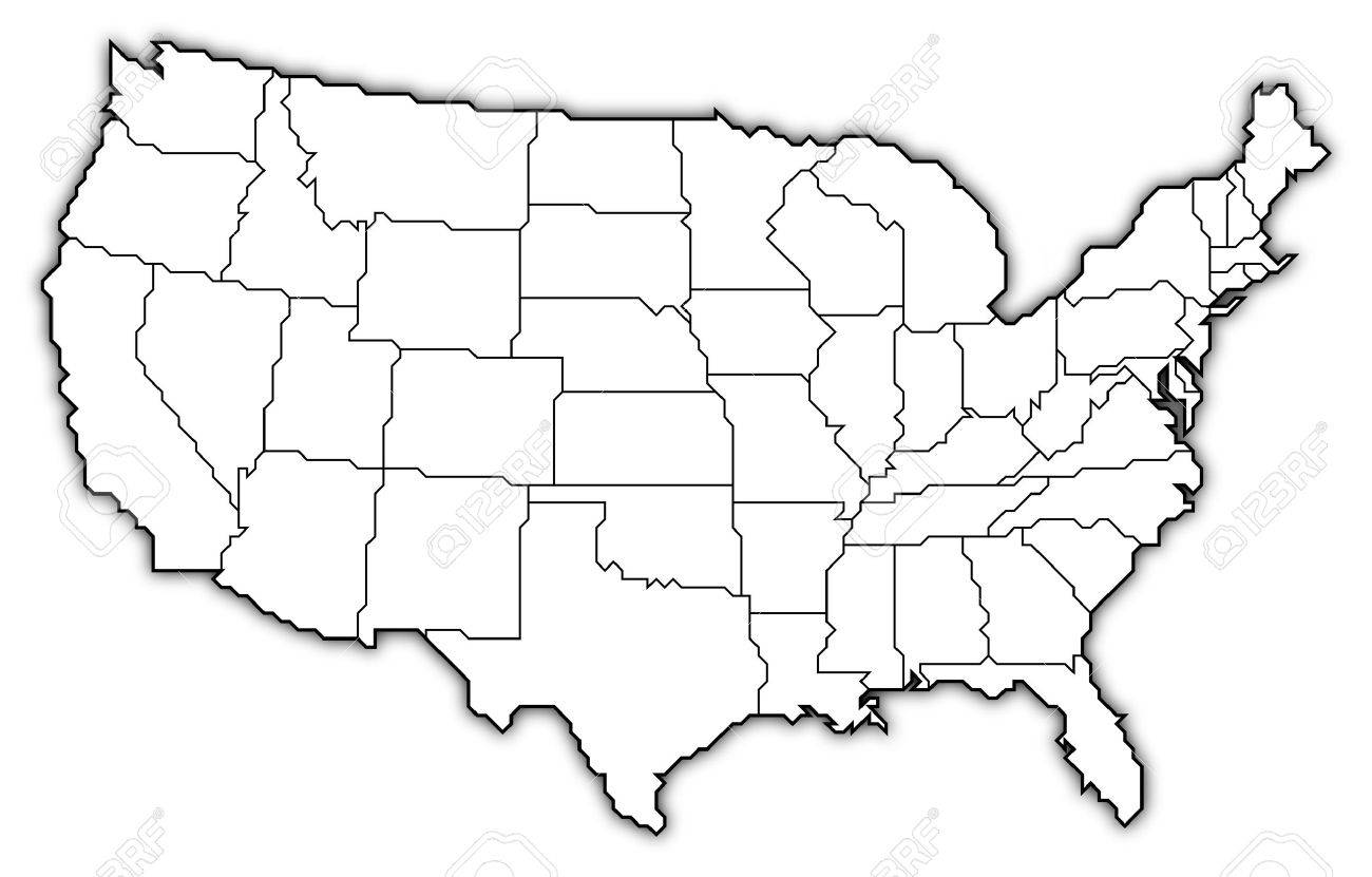 Line Drawing Usa : Us map line drawing at getdrawings free for personal