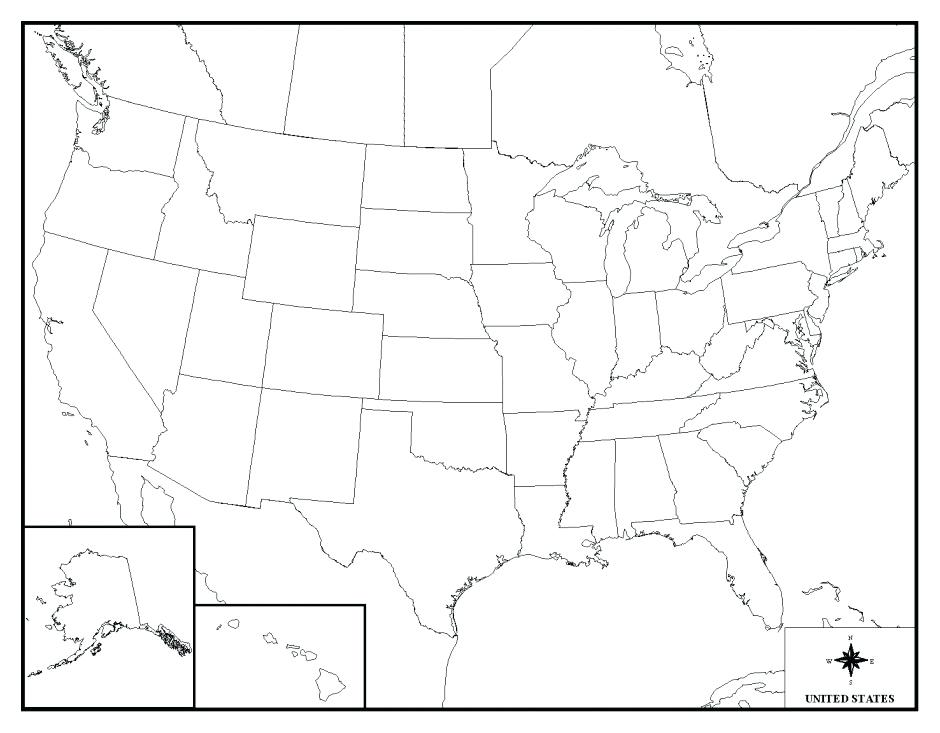 940x733 Map Of Usa Coloring Page S Opportunities In Geography Us Map