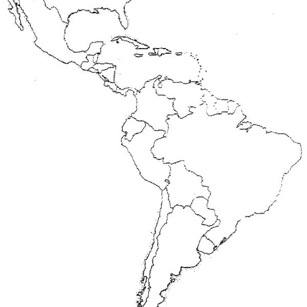600x600 Physical Map Of Latin America Quiz Map Of Usa
