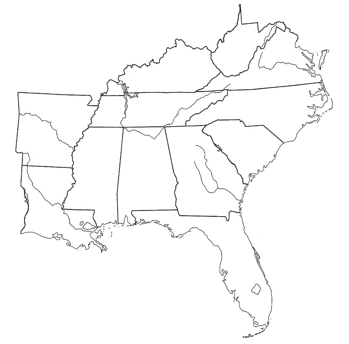 image about Southeast Region Map Printable called The most straightforward free of charge Southeast drawing photos. Obtain versus 24