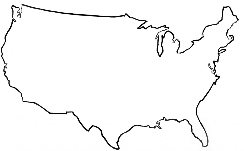 1024x635 United States Outline Clipart