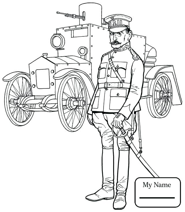 641x734 Military Coloring Pages Coloring Pages For Kids World War 1