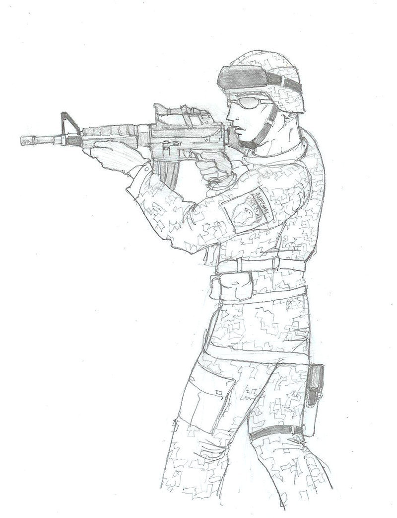 800x1042 Us Army Soldier Sketch. By Daimoth