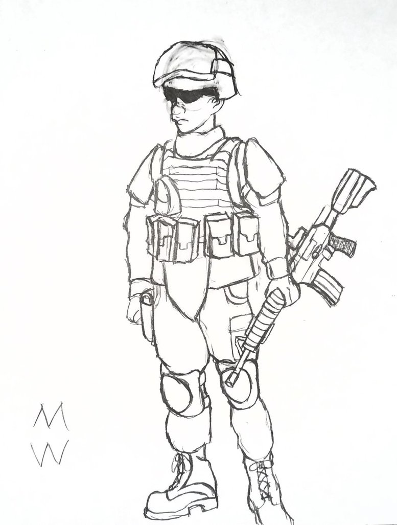 777x1027 Us Soldier By Mrwafflles