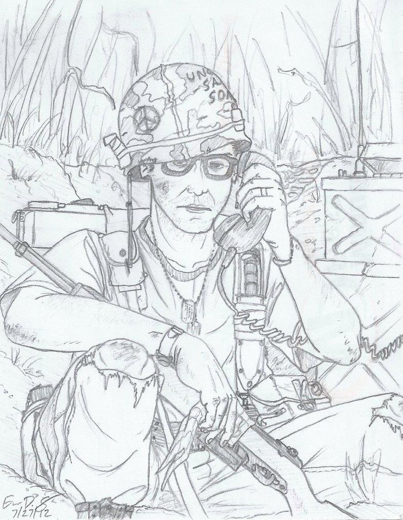 786x1016 Vietnam Us Soldier By Warman707