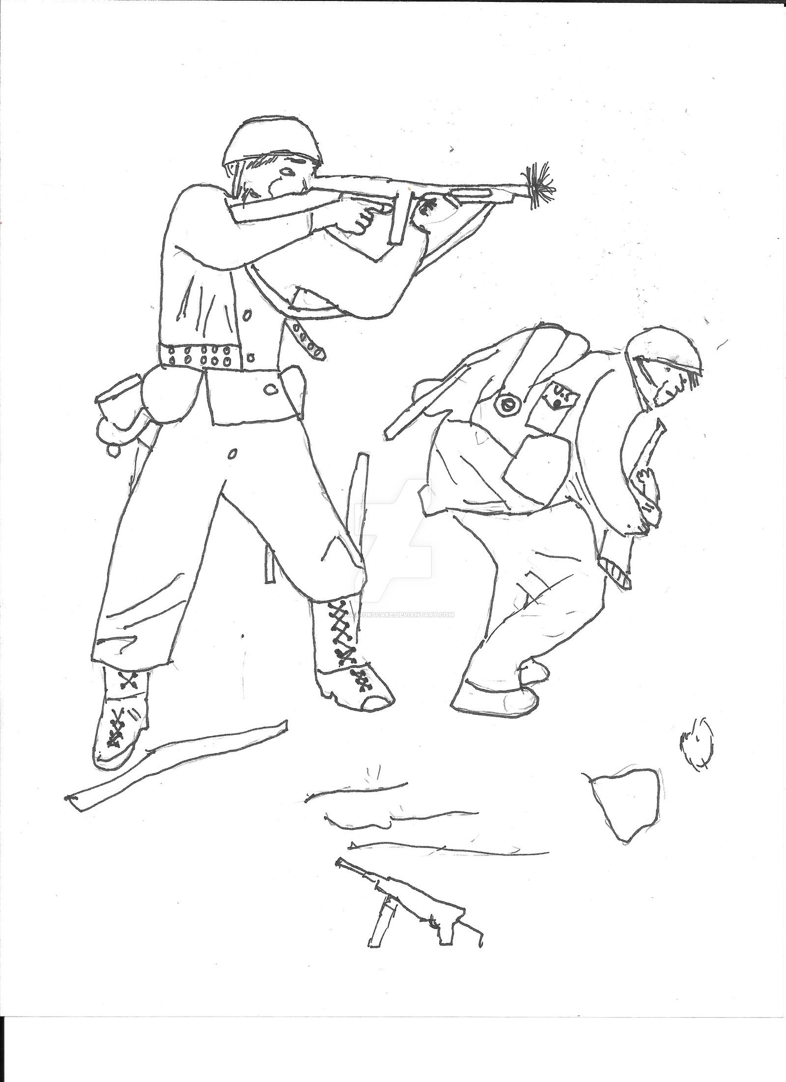 1600x2201 Ww2 Us Soldiers By Ingarrukscake
