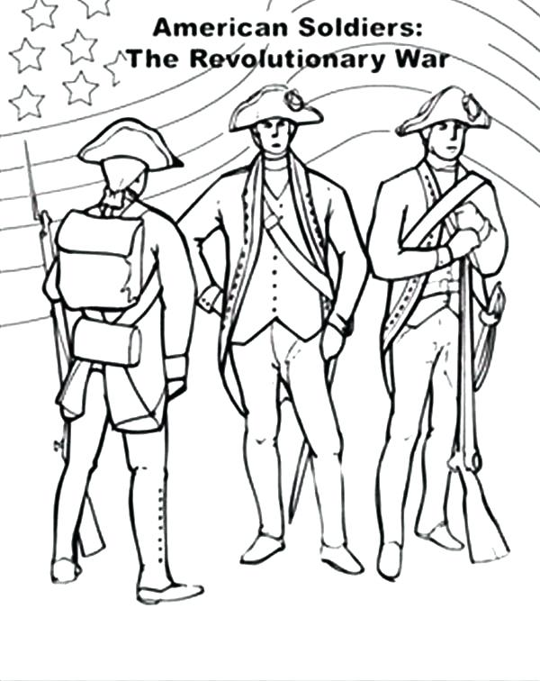 600x756 American Revolution Coloring Pages Soldier Civil War Coloring Page