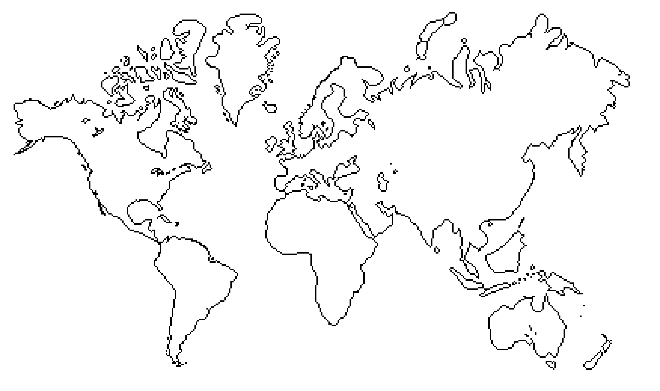 2532x1502 World Map Line Drawing Maps Of Usa
