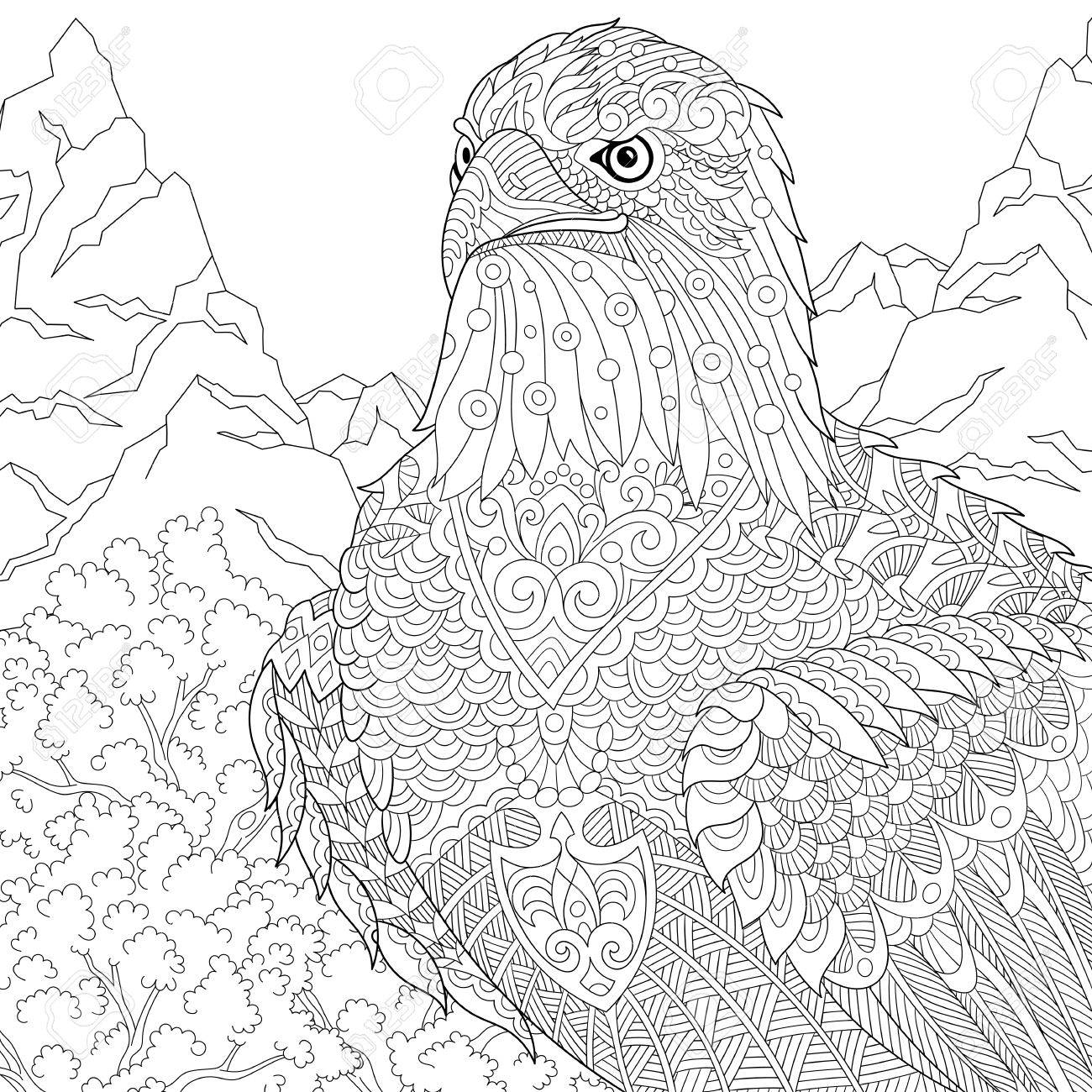 1300x1300 Coloring Page Of American Bald Eagle