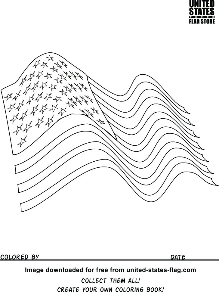 728x970 Usa Flag Coloring Pages American Flag Coloring Page Pdf Omnitutor.co