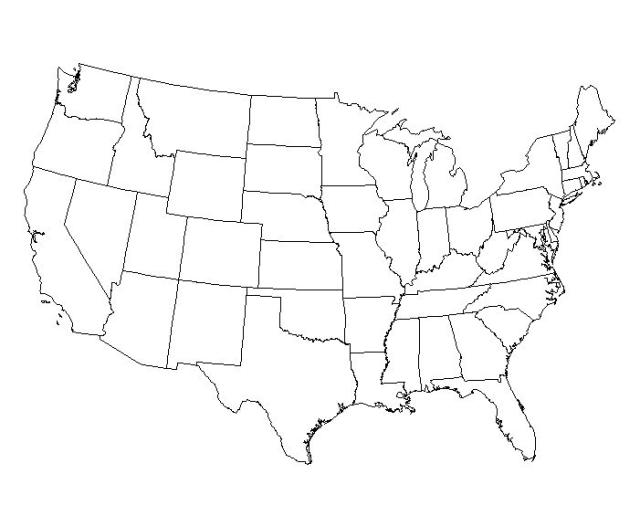 640x516 Best Photos Of Large Outline Map United States