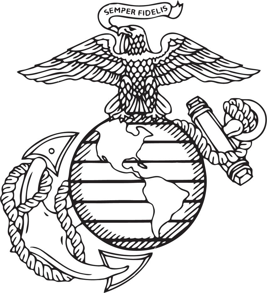850x934 Marines Decal Logo