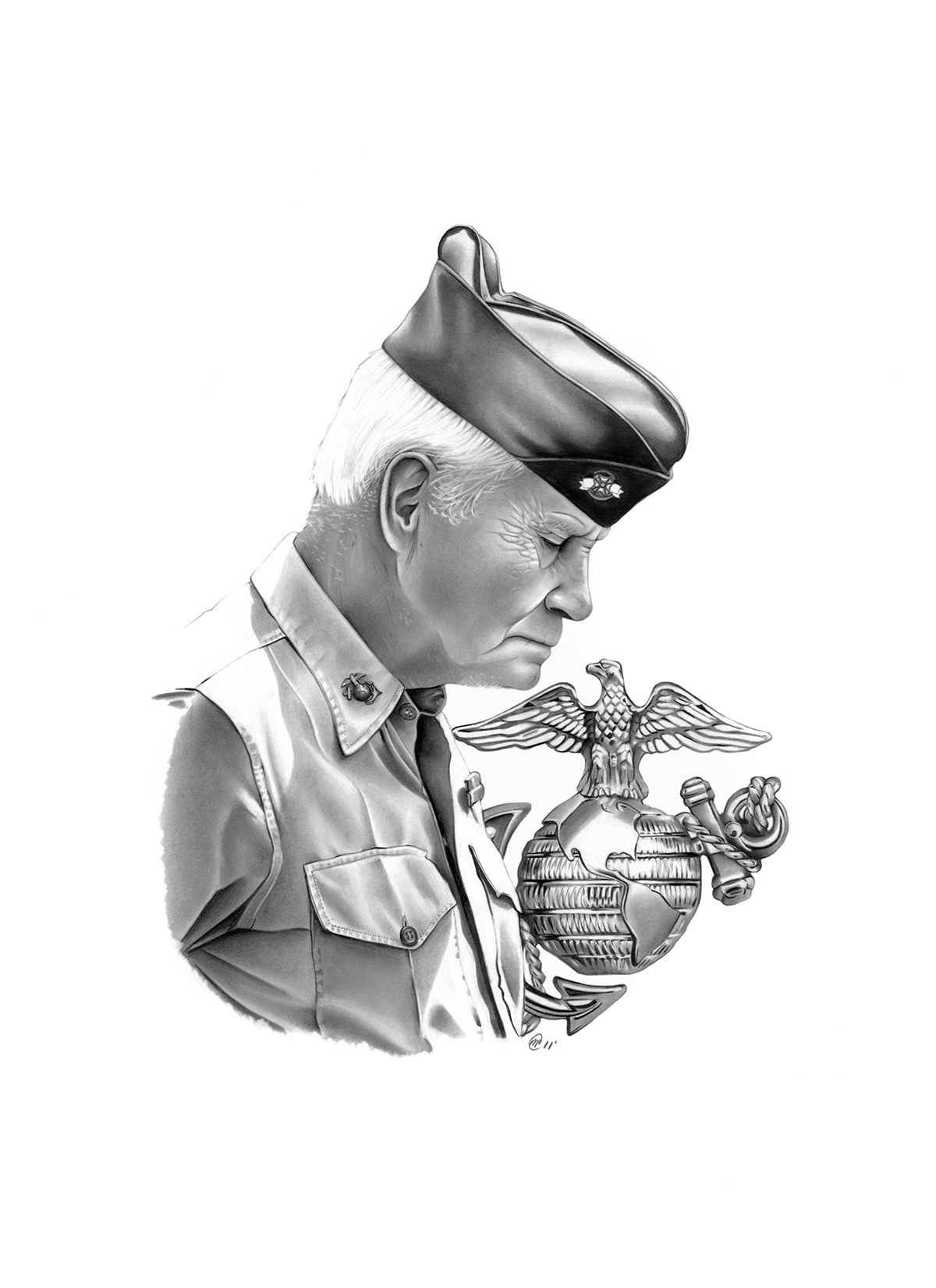 1200x1650 Usmc Illustrations On Behance
