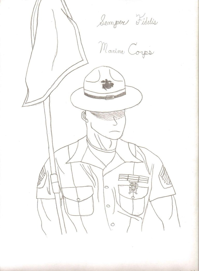 767x1042 Drill Instructor (Usmc) By Supergogeta23