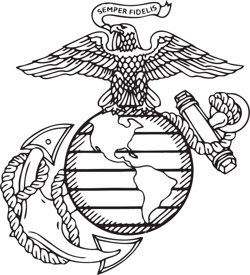 Usmc Emblem Drawing at GetDrawings.com | Free for personal use Usmc ...