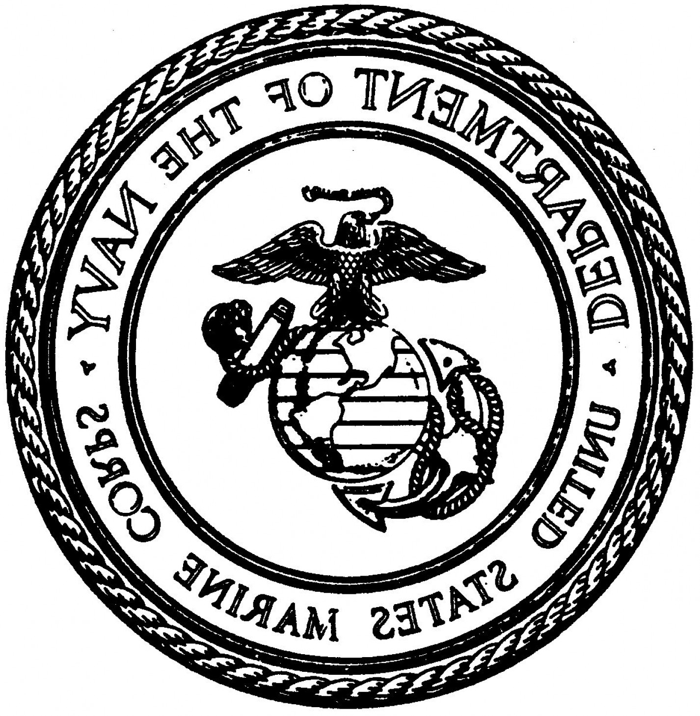 usmc emblem drawing at getdrawings com free for personal use usmc rh getdrawings com Official Marine Corps Emblem Official Marine Corps Emblem