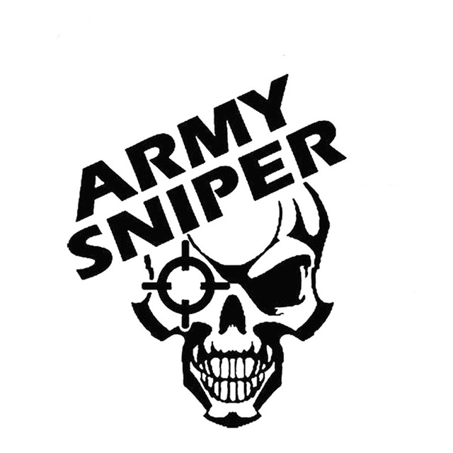640x640 9.8cm12.7cm Army Sniper Vinyl Decal Beret Special Forces Recon