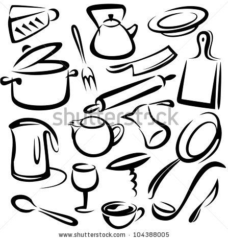 447x470 Kitchen Tools Drawing 52 Best Kitchen Images On Kitchen