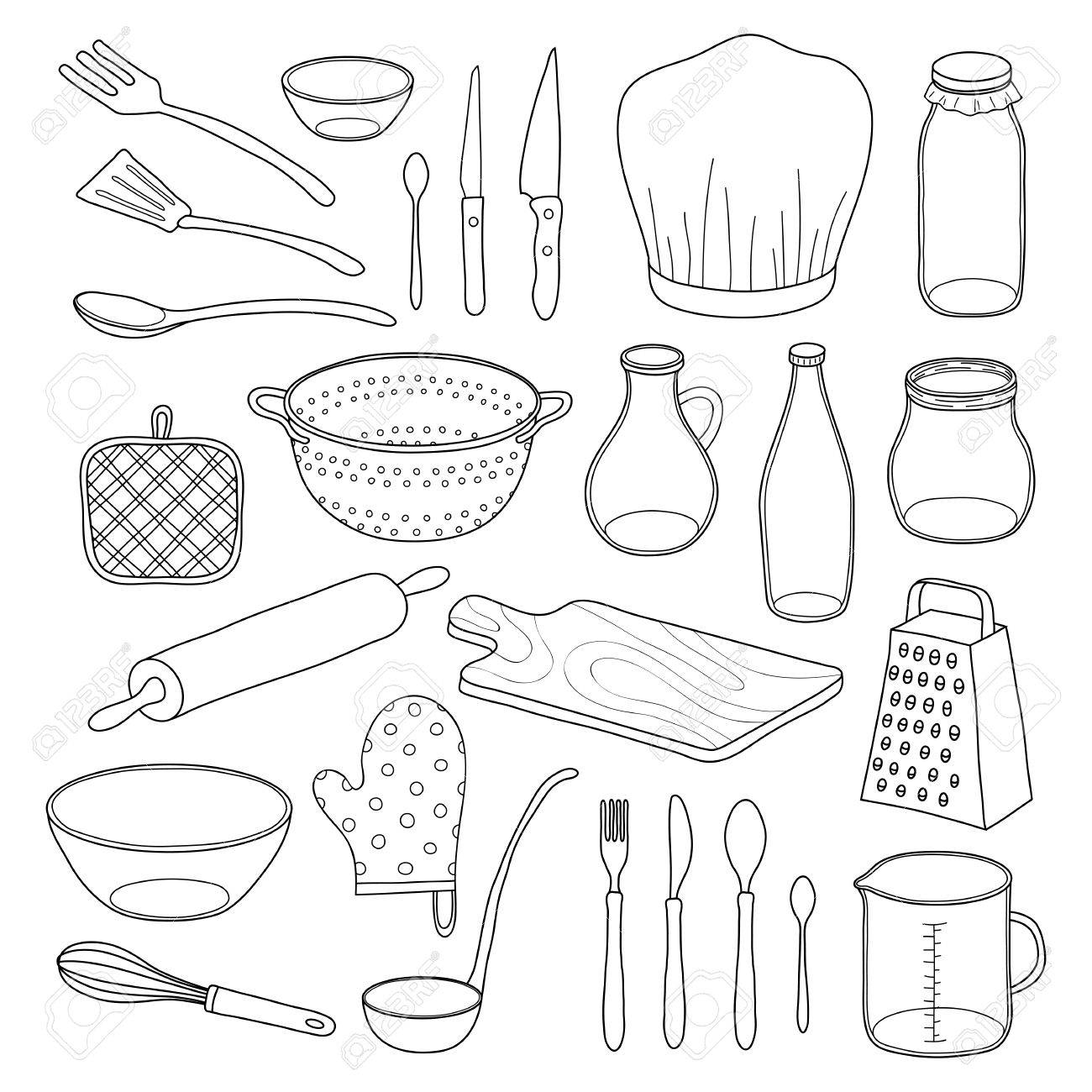 Utensils Drawing at GetDrawings.com | Free for personal use Utensils ...