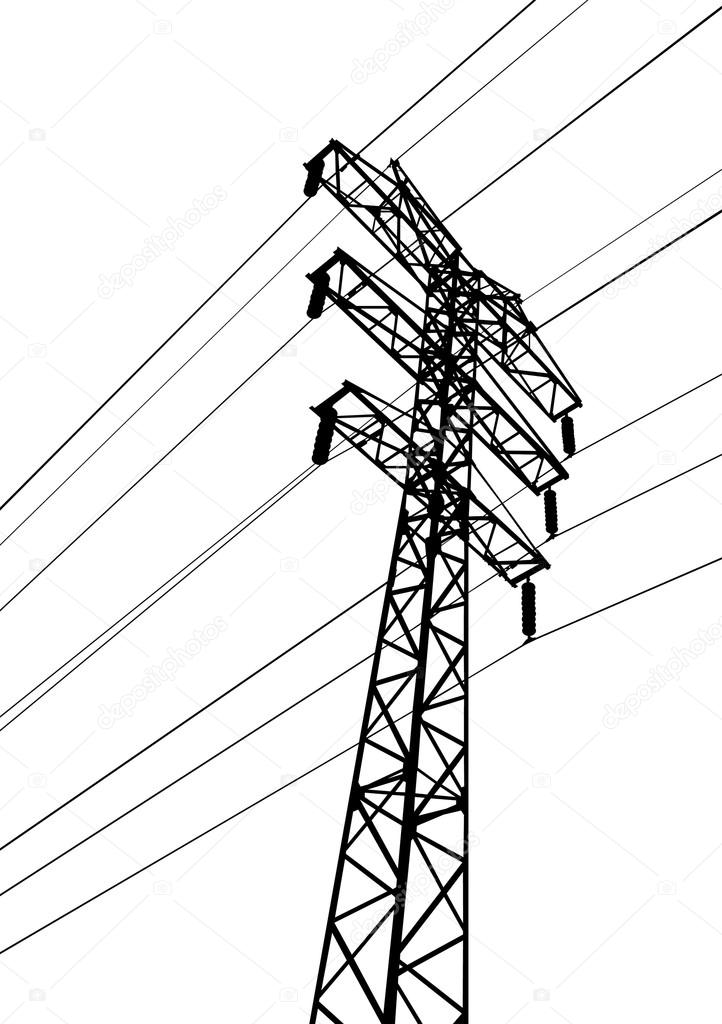 Utility Pole Drawing At Getdrawings Com