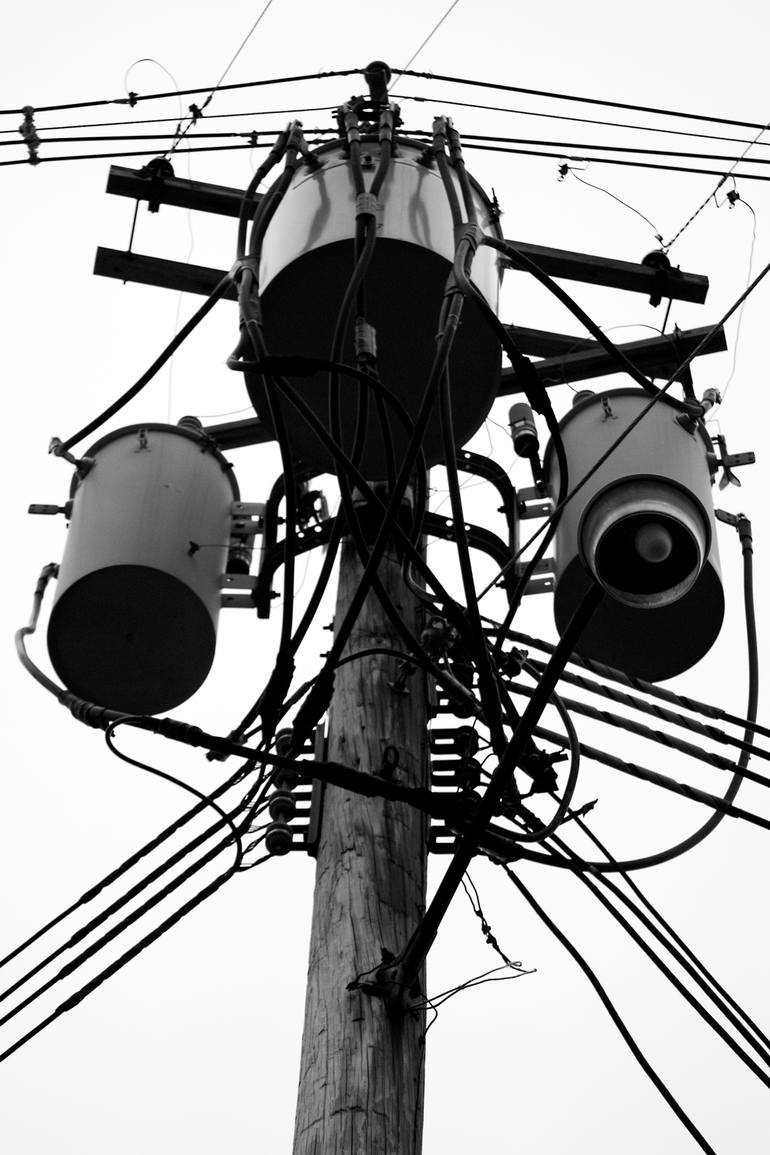 770x1155 Saatchi Art Utility Pole. Photography By Michael C Grimley
